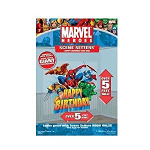 Marvel City Happy Birthday 65in Scene Setter Add-Ons 2ct