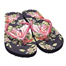 Ladies/Womens Floral Pattern Summer/Beach Wear Flip Flops