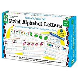 Carson-Dellosa Publishing - 2 Pack - Write-On/Wipe-Off Print Alphabet Letters Activity Set Ages 4 And Up \
