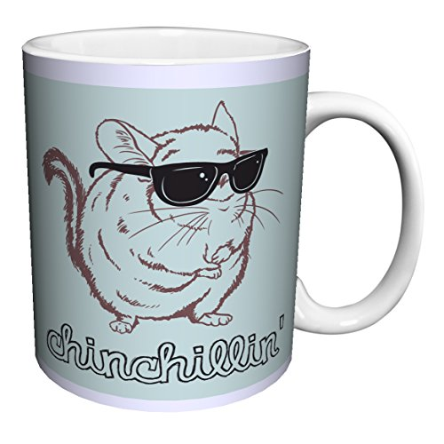 Snorg Tees Chinchillin Novelty Lifestyle College Animal Humor Ceramic Gift Coffee (Tea, Cocoa) 11 Oz. Mug