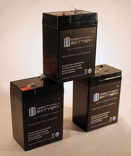 Ml4-6 - 6V 4.5Ah Replacement For Eagle Picher Batteries 3921 Cf6V4 Cf6V - 3 Pack