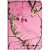 "Kindle fire HD 8.9"" PINK CAMO REAL OAK MOSSY 360 rotating SMART CASE COVER STAND with a Closing Band By Dealseggs"
