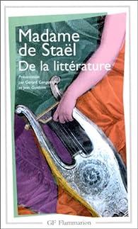 De la littérature par Madame de Staël