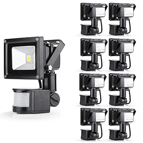 9 Pcs Popular 10W Warm White Floodlight Ac 85-265V Waterproof Led Flood Light Induction Sense Lamp front-207393