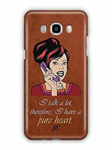 YuBingo I talk a Lot, therefore I have a pure heart Designer Mobile Case Back Cover for Samsung Galaxy J5 2016