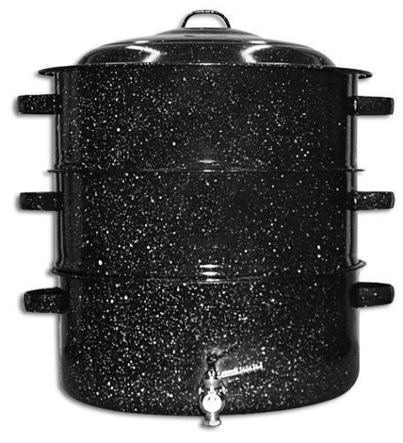 Granite Ware 6328-1 12-Quart Enamel-on-Steel 3-Tier Shore Dinner Pot with Faucet