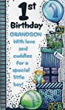 Second Nature Large Grandson 1St Happy Birthday Card 1 Today 3D Pop Out Quality Greeting Card