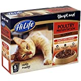 HiLife Tempt Me! Cat Food Poultry Presentation in Gravy '32 x 85g Pouches' (Pack of 4)