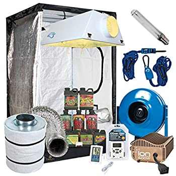 Complete 4 by 4 by 6.67ft grow tent package