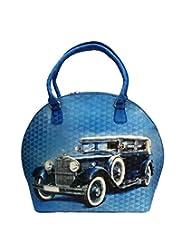 Bhamini Digital Hand Held Bag (Blue)