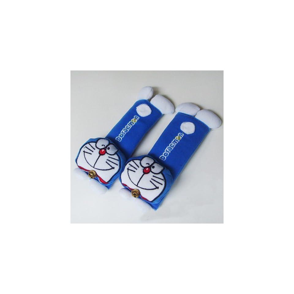 Japanese Doraemon Design Multi Use Auto Car seat belt cover Plush Seat Shoulder Pad Cushion 2 pcs One Pair