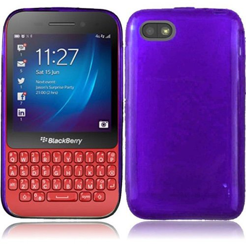 Cell Accessories For Less (Tm) For Blackberry Q5 Frosted Tpu Cover Case - Purple - By Thetargetbuys *Free Shipping*
