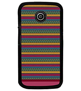 PrintDhaba Tribal Pattern D-1672 Back Case Cover for MOTOROLA MOTO E (Multi-Coloured)