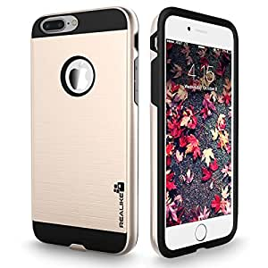 iPhone 7 Plus Cover, REALIKE™ Premium {Imported} Shockproof Dual Layer Ultra Protective Case For iPhone 7 Plus (Simply Fit Series - Gold)