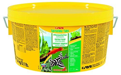 Sera 00980 spirulina tabs 1 4 kg pflanzenfutter aus for Goldfische gartenteich