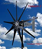 2000 Watt 9 Blade Missouri GeneralTM Freedom II Wind Turbine (Black, 24/48 Volts)