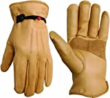 Search : Wells Lamont 1140L Work Gloves with Timber Grain Cowhide, Keytsone Thumb, Palm Patch, Self Hem, Large