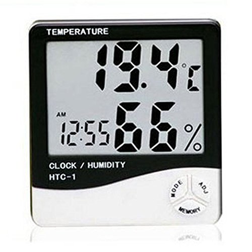 Eastvita® LCD Display Temperature and Humidity Meter with Alarm Clock Hygrometer - 1