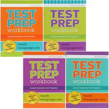 Test Prep Math & Language Arts Workbook Aligned with Common Core Standards (Assorted, Grades Vary) - 1