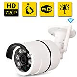 Bullet IP Camera Outdoor -SDETER Waterproof 720P HD Home Security Surveillance (Easy Setup, Built-in 16G Memory Card, Remote View Via Smart Phone/Tablet/PC, Plug/Play, Night Vision, Alarm)