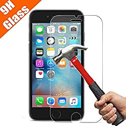 iPhone 6 / 6S Screen Protector, OuTera Tempered Glass Screen Protector for iPhone 6 6S [Anti-Scratch] 9H 0.2mm Screen Protection Case Fit 99% Touch Accurate