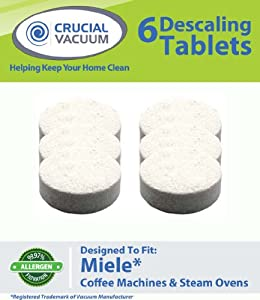 High Quality 6 Pack Descaling Tablets Designed For Use In Miele Coffee Machines & Steam Ovens; Compare To Miele Tablet Part # 05626050; Designed Exclusively For Crucial Vacuum by Crucial Vacuum