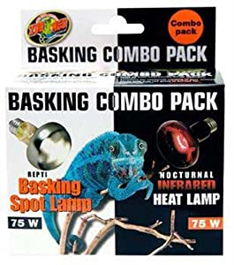Zoo Med Basking Bulb Combo Pack Day and Night 75 Watts
