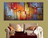 Art Hand Painted Modern Abstract Oil Painting on Canvas Wall Art Deco Home Decoration 3 Pic/set Stretched Ready to Hang