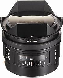 Sony SAL-16F28 16mm f/2.8 Fisheye Lens for Sony Alpha Digital SLR Camera (Black)