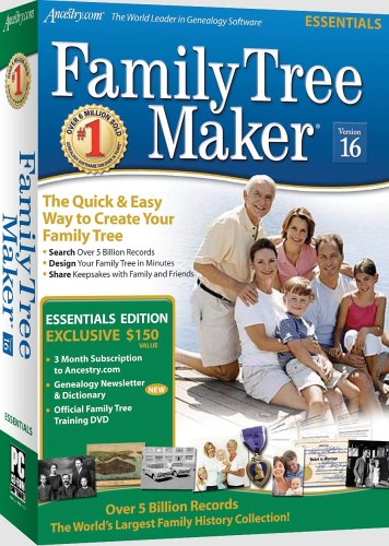 Buy Now at Amazon.com: Family Tree Maker Version 16 Essentials [OLD VERSION]