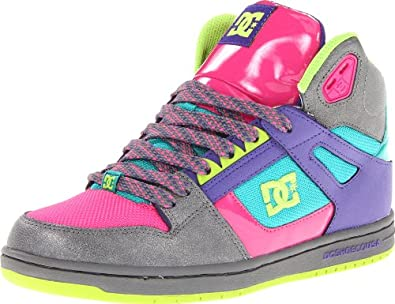 DC Women's Rebound High SE Sneaker,Battleship/Purple,9 M US