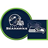 Seattle Seahawks NFL Dessert Napkins & Plates Party Kit for 8