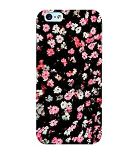 Flowers Pattern 3D Hard Polycarbonate Designer Back Case Cover for Apple iPhone 6S