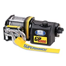 Superwinch 1330200 GP3000, 12 VDC winch, 3,000lb/1360 kg single line pull with pulley block, Roller Fairlead & rubber remote
