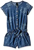 UCB KIDS Girls' Overalls, Dungarees and Rompers (15P4KW458050G901EL_Blue_11 - 12 years)