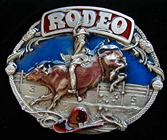 Rodeo Colored Belt Buckle