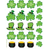 St Patrick s Day Shamrocks Assorted Value Stickers 4 Sheets Per Pack