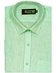 Helg Mens Formal Linen Half Sleeves Comfort Fit Shirt