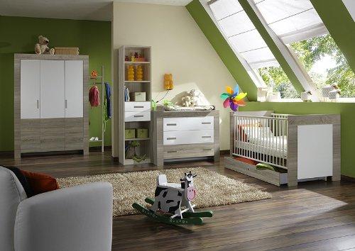 Babyzimmer 7-tlg »ELLA« Eiche sägerau - alpinweiß