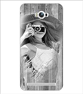 PrintDhaba Camera Girl D-2786 Back Case Cover for ASUS ZENFONE MAX ZC550KL (2016) (Multi-Coloured)