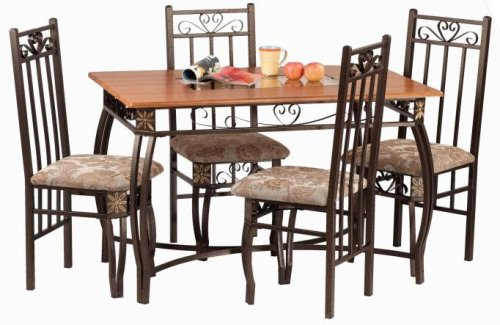 Buy low price cross country furniture beautiful 5 pc for Beautiful dinette sets