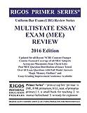 img - for Rigos Primer Series Uniform Bar Exam (UBE) Review Series Multistate Essay Exam: 2016 Edition book / textbook / text book