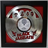 Black Sabbath Framed Laser Cut Platinum Plated Vinyl Record in Shadowbox Wallart