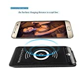 Wireless Power Bank, AmiCool Portable Qi Wireless Charger 8000mAh Ultra Slim Power Bank 2 in 1 Charging for Samsung Galaxy S7 S7 Edge S6 S6 Edge/Edge Plus Note 5 Nexus 6 5 4 and iPhone (Black)