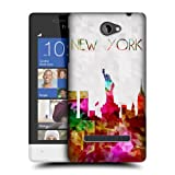 Head Case Designs Statue of Liberty New York USA Watercoloured Skyline Hard Back Case Cover for HTC Windows Phone 8S