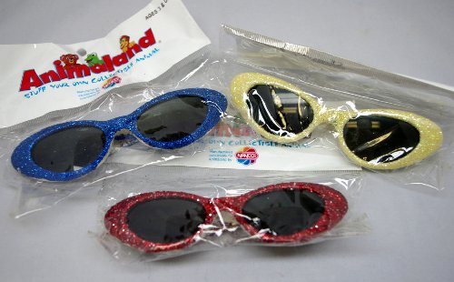 "Glitter Sunglasses Fits Most 14""-18"" Teddy Bears and Plush Animals - Assorted Colors"