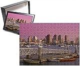 Photo Jigsaw Puzzle Of San Diego Skyline At Twilight, California, United States Of America, North