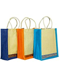 Jute Lunch Bag 3 Units 9x10x4 Inch (quality Products From Apache Retail Only),Carry Bag,Travel Bag,Hand Bag, Shopping...