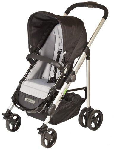 Guzzie+Guss Denman Stroller, Grey front-170988