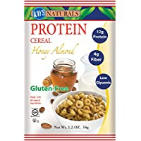 Kay's Naturals Protein Cereal, Honey Almond.  1.2 oz. bags (Pack of 6)